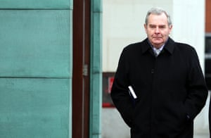 Sean Quinn outside Belfast High Court, where a judge ruled that the former billionaire was not entitled to file for bankruptcy in Northern Ireland.