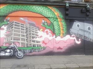 Anglo Bank graffiti in Dublin