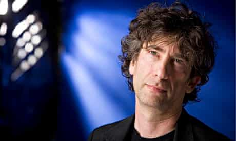 Neil Gaiman - head and shoulders shot of the wistful-looking author