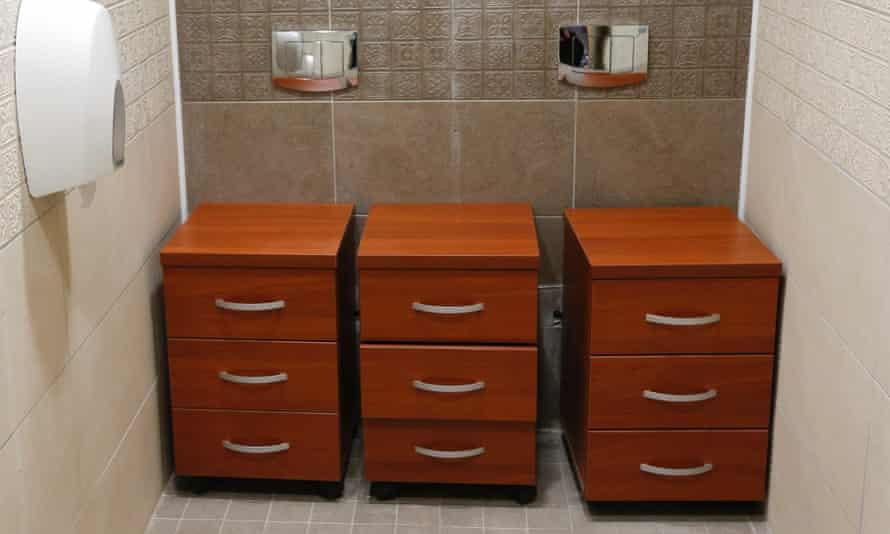 Former double toilet cubicle in Krasnaya Polyana near Sochi
