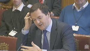 George Osborne at Lords economic affairs committee