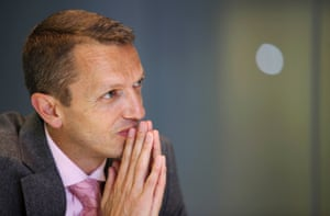 Andrew Haldane, executive director for financial stability at the Bank of England, pauses during an interview in London, U.K., on Tuesday, June 14, 2011.