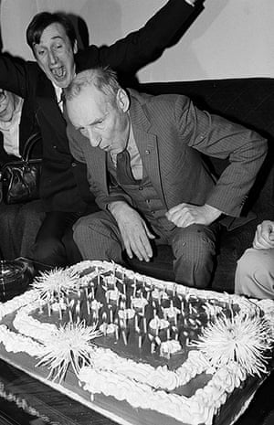 William Burroughs: Burroughs celebrates his 70th birthday at the Limelight dance club