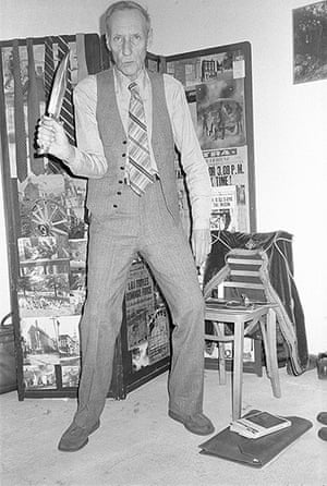 William Burroughs: Burroughs with a knife in his New York apartment