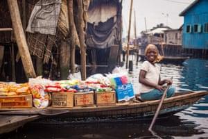 Lagos, Nigeria: Grocery store in Makoko, Lagos