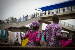 Lagos, Nigeria: Matching fabric for men and woman