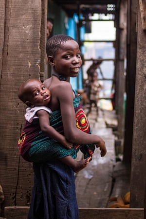 "Lagos, Nigeria: ""He loves me more than Mama"" she said with pride"