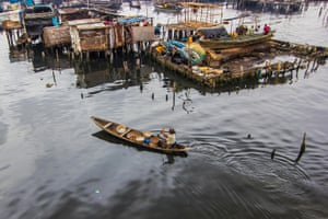Lagos, Nigeria: Many of the residents of Makoko travel by boat