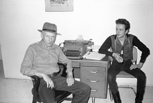William Burroughs: Burroughs and Joe Strummer of The Clash in The Bunker, 1980
