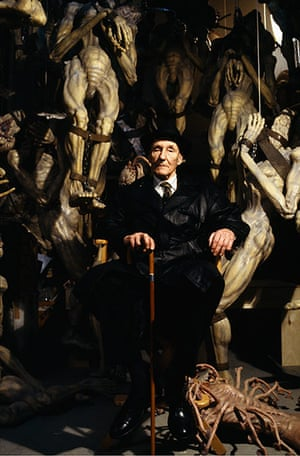 William Burroughs: Burroughs on the set of The Naked Lunch directed by David Cronenberg