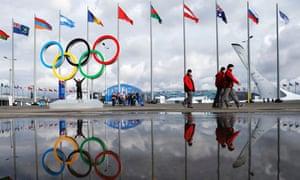 Olympics rings in Sochi