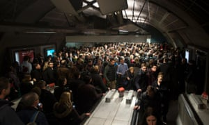 Commuters arrived early to queue at the Jubilee Line at Waterloo station this morning as the strike was underway.