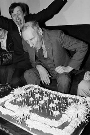 William Burroughs: fan of birthday cakes.
