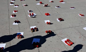 Red shoes memorial