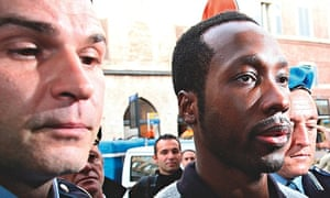 Rudy Guede at his appeal in Perugia