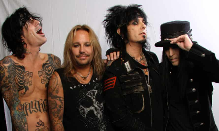 Tommy Lee, Vince Neil, Nikki Sixx and Mick Mars of Motley Crue