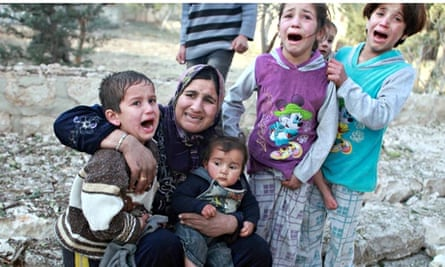 Syrian woman and children, Aleppo, 2013