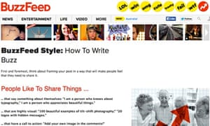 15 reasons to love BuzzFeed's style guide | Media | The Guardian