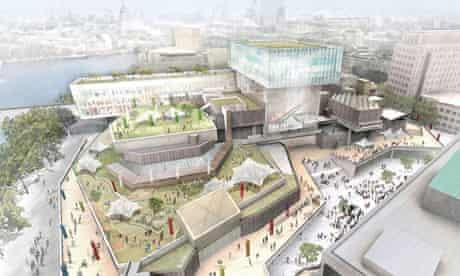 Southbank Centre proposed redevelopment, with 'floating' glass pavilion