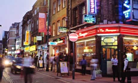 The curry houses of east London's Brick Lane.
