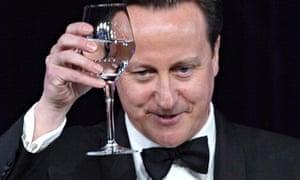 British Prime Minister David Cameron off