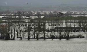 Flooded Somerset Levels