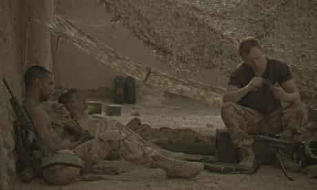 The Patrol: film still of soldiers in camp