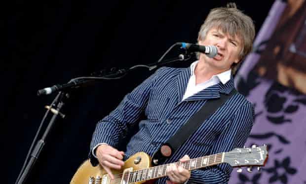 Neil Finn plays the Glastonbury festival, UK