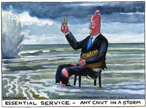Steve Bell on David Cameron's response to the flooding crisis