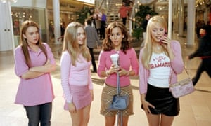The four main stars of Mean Girls, 2004.