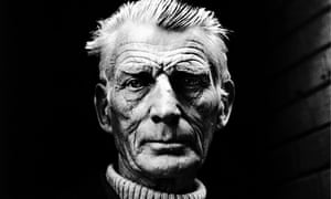 Samuel Beckett, leaving the Royal Court Theatre, Sloane Square, London in 1976