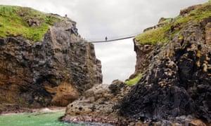 Carrick-a-Rede rope bridge on the Antrim coast