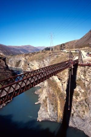 Bungy Jumping Kawarau Bridge Kawarau Gorge near Queenstown South Island New Zealand