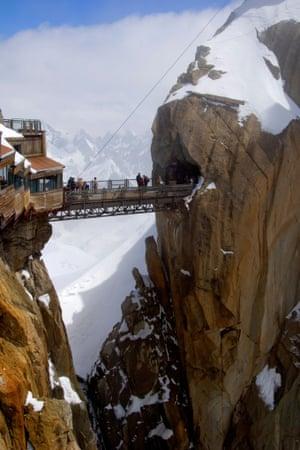 Viewing platform and walkway, Aiguille du Midi, Chamonix-Mont-Blanc