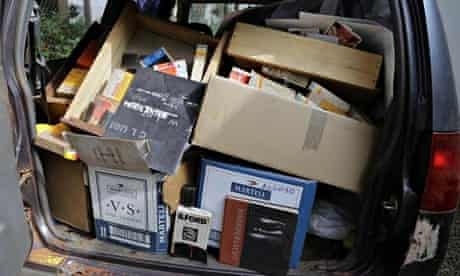 Rescued Samuel Fosso archives in the back of a pickup