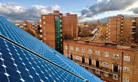 Roof-top solar panels Brixton