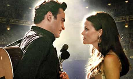 With Reese Witherspoon in Walk The Line