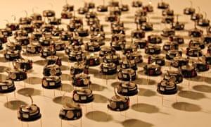 A swarm of Kilobots