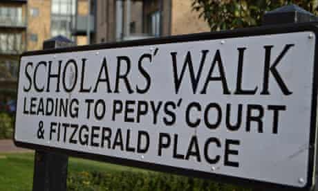 Cambridge street sign