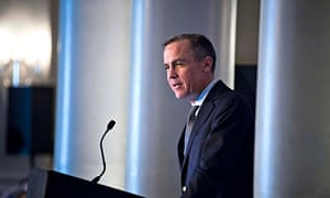 The Governor of Britain's Bank of England, Mark Carney, speaks