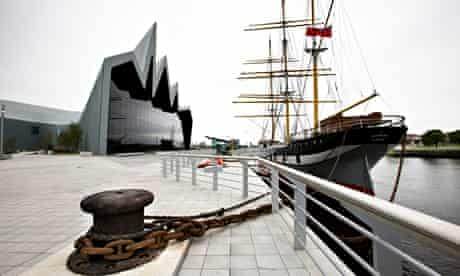 The Museum of Transport Glasgow. This three-masted steel barque, built in 1896 in Port Glasgow, is n