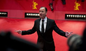 Actor Fisher Stevens on the red carpet upon arrival for The Grand Budapest Hotel which is the opening film of the Berlinale film festival in Berlin.