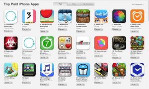 US App Store games' chart