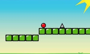 A screenshot from Red Bouncing Ball Spikes