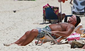 Bob Crow on holiday in Brazil