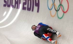Jo Alexander Koppang of Norway in action during a men's singles luge training session.
