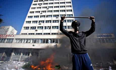 Bosnia protester