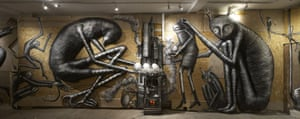 Phlegm murals: Phlegm exhibition, Richard Howard-Griffin gallery