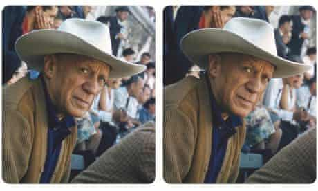 Stereoscopic photograph of Pablo Picasso in a Stetson by Robert Mouzillat