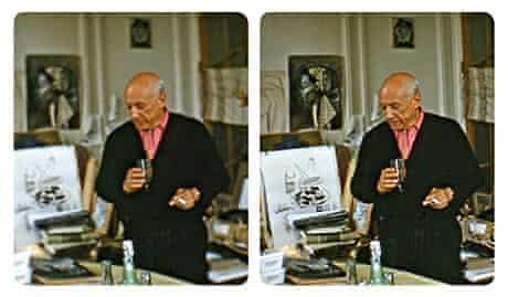 Picasso in his studio by Robert Mouzillat